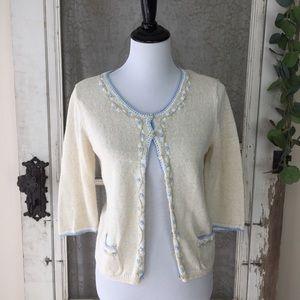 Vintage Liz Claiborne Embroidered Sweater PS (HH4)
